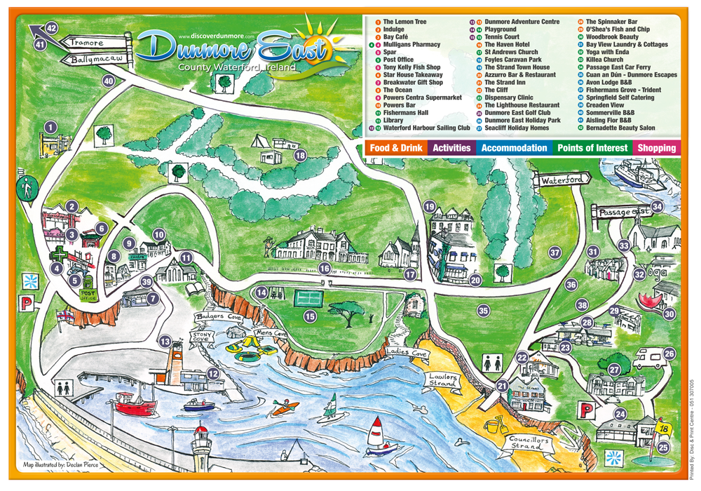 map dunmore east